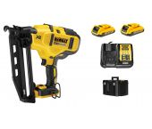 DeWalt DCN660D2 18V Li-Ion Accu afwerk tacker set (2x 2.0Ah accu) in koffer - 32-63mm - 16 Gauge - koolborstelloos - DCN660D2-QW