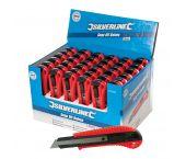Silverline 675097 Afbreekmes in displaydoos - 18mm (36st)