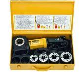 """Rems Amigo Set R 1/2-3/4-1-1 1/4"""" Draadsnijmachine incl. snelwisselsnijkoppen in stalen koffer - 530020"""