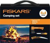 Fiskars 1025439 Camping set - Bijl - Zaag - Mes