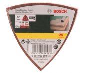 Bosch 2607019500 25-delige Schuurbladenset - Delta - K60/120/240 - 120x96mm