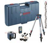 Bosch GRL 400 H rotatie laser + LR 1 ontvanger in koffer + GR 2400  meetlat + BT 152 statief  - 06159940JY