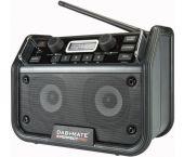 PerfectPro DAB+MATE Bouwradio FM RDS - DAB+ - bluetooth - aux-in - werkt op netstroom & batterij (inbegrepen)