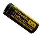 Nitecore NL18490A 3.7V Li-Ion oplaadbare batterij - 1100mAh