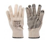 Silverline 196545 Werkhandschoenen - Enkelzijdig gestipt - L - (2st)