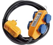 Brennenstuhl 11687300101 Adapterkabel FI IP44 met contactdozenblok - H07RN-F 3G1,5 - 10m