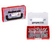 fischer 536162 210-delige DUOPOWER Pluggen-/schroevenset in FIXtainer
