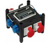 Brennenstuhl 1153690400 compacte rubberen stroomverdeler BSV 3/32 2 - IP44 - 2m - H07RN-F 5G4,0