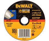 DeWalt DT43340 EXTREME Rechte doorslijpschijf - 125 x 22,23 x 1mm - inox - DT43340-XJ
