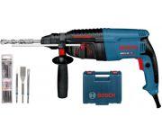 Bosch GBH 2-26 F SDS-plus Combihamer incl. snelspanboorhouder & 5 delige SDS-plus boorset  in koffer - 830W - 2,7J  - 06112A4001