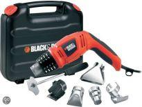 Black and Decker KX1693 Heteluchtpistool + toebehoren in koffer - 1800W - 3 Standen