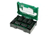 Hitachi 40030025 7 delige doppenset in koffer - 1/2''