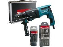 Makita HR2611FT13 SDS-plus Combihamer incl. snelspanboorkop in koffer - 800W - 2,4J