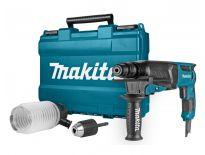 Makita HR2630X2 SDS-plus Combihamer incl. snelspanboorkop & stofafzuigset in koffer - 800W - 2,4J