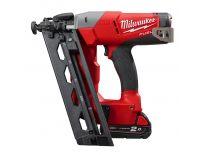 Milwaukee M18 CN16GA-202X 18V Li-Ion Accu brad tacker set (2x 2.0Ah accu) in HD Box - 32-63mm - 16 Gauge - 4933451570