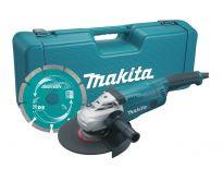 Makita GA9020KD Haakse slijper incl. diamantzaagblad in koffer - 2200W - 230mm