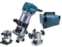 Makita RT0700CX2J bovenfrees / kantenfrees / trimmer in Mbox - 710W - 8mm