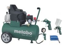 Metabo Basic 250-50 W Compressor + LPZ 4 toebehorenset - 1500W - 50L - 95 l/min - 690866000