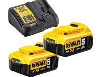 DeWalt DCB115P2 18V Li-Ion accu starterset (2x 5.0Ah) + lader - DCB115P2-QW