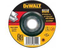 DeWalt DT43200 Doorslijpschijf met verzonken centrum - 115 x 22,23 x 3mm - metaal - DT43200-XJ