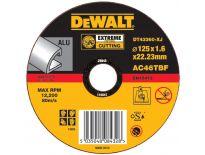 DeWalt DT43360 EXTREME Rechte doorslijpschijf - 125 x 22,23 x 1,6mm - aluminium - DT43360-XJ