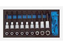 """Gedore 1500 CT1-ITX 19 LKP 20 delige dopsleutel schroevendraaierset in 1/3 CT module - 1/2"""" - 2308940"""