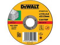 DeWalt DT42273 Rechte doorslijpschijf - 115 x 22,23 x 3mm - steen - DT42273-XJ