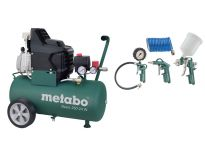 Metabo Basic 250-24 W Compressor + LPZ 4 toebehorenset - 1500W - 24L - 95 l/min - 690836000