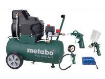 Metabo Basic 250-24 W OF SET Compressor + LPZ-4 toebehorenset - 1500W - 24L - 100 l/min - 690865000