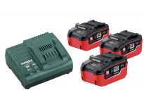 Metabo 685074000 18V LiHD accu starterset (3x 5.5Ah) + lader