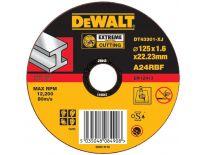 DeWalt DT43301 EXTREME Rechte doorslijpschijf - 125 x 22,23 x 1,6mm - metaal - DT43301-XJ