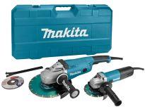 Makita DK0053GX1 Haakse slijper set (GA9020 & 9558HN) incl. 2 diamantzaagbladen in koffer - 2200W / 840W - 230mm / 125mm