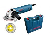Bosch GWS 1400 Haakse slijper incl. diamantzaagblad in koffer - 1400W - 125mm - 0601824900