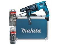 Makita HR2631FT13 SDS-plus Combihamer incl. snelspanboorkop in koffer - 800W - 2,4J
