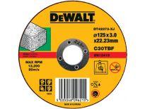 DeWalt DT42373 Rechte doorslijpschijf - 125 x 22,23 x 3mm - steen - DT42373-XJ