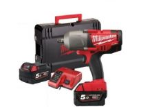 "Milwaukee M18 CHIWP12-502X 18V Li-Ion Accu slagmoersleutel set (2x 5.0Ah accu) in HD BOX - 813Nm - 1/2"" - koolborstelloos - 4933451400"