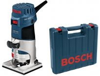 Bosch GKF 600 kantenfrees + 2 extra accessoires in koffer - 600W - 6-8mm - 060160A100