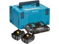 Makita 197629-2 18V Li-Ion accu starterset (2x 5.0Ah) + duolader in Mbox