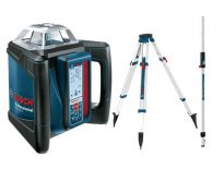 Bosch 06159940EE Rotatielaser (GRL 500 H) & Laserontvanger (LR 50) in koffer + statief (BT 170 HD) & Meetlat (GR 240) - 20-500m