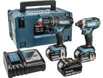 Makita DLX2131JX1 18V Li-Ion accu klopboor-/schroefmachine (DHP482) & slagschroevendraaier (DTD152) combiset (3x 3.0Ah accu) in Mbox