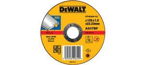 DeWalt DT42340 Rechte doorslijpschijf - 125 x 22,23 x 1,2mm - inox - DT42340TZ-XJ