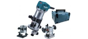 Makita RT0700CX2J bovenfrees / kantenfrees / trimmer in Mbox - 710W - 8mm