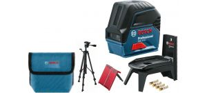 Bosch GCL 2-15 Kruislijnlaser met loodlijnfunctie in tas & statief (BT 150) - 15m - 06159940FV