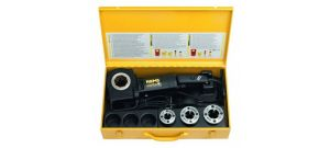 """Rems Amigo E Set R 1/2-3/4-1"""" Draadsnijmachine incl. snelwisselsnijkoppen in stalen koffer - 530013"""