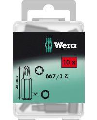 """Wera 5072409001 1/4"""" Torx Bit - T25 x 25mm (10st)"""